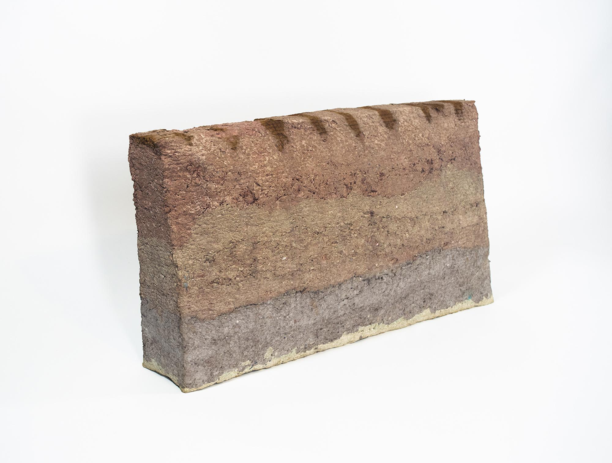 Block , paper pulp, 14 x 20 x 5 in, 2016.
