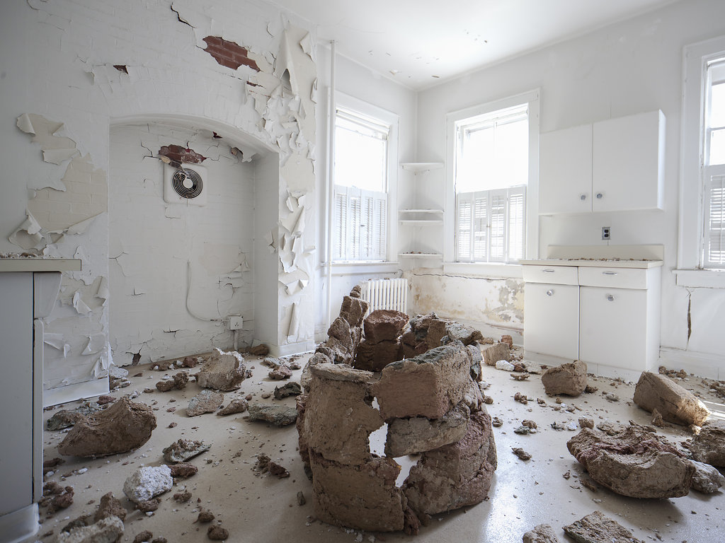 Dissolution , paper pulp, dimensions variable, 2016, GIAF 2016, Governors Island, New York.