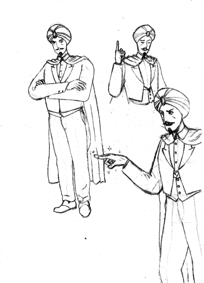 marvelo magician character sketches