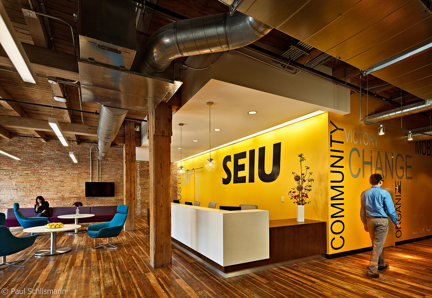 Chicago Architectural Photographer | SEIU Interior, Wight and Company architects