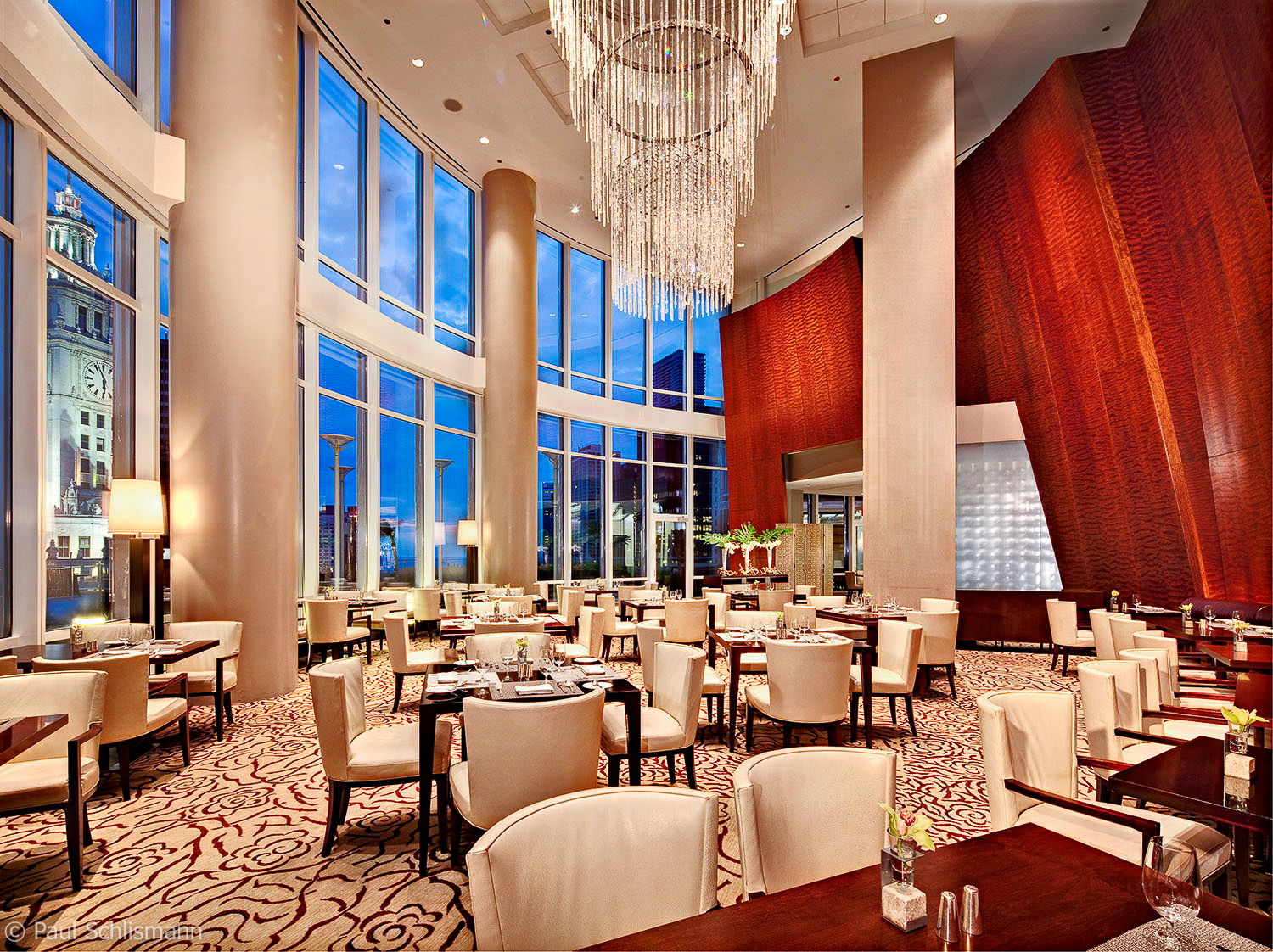 Chicago Architectural Photographer | Restaurant of Trump Tower, Chicago IL.