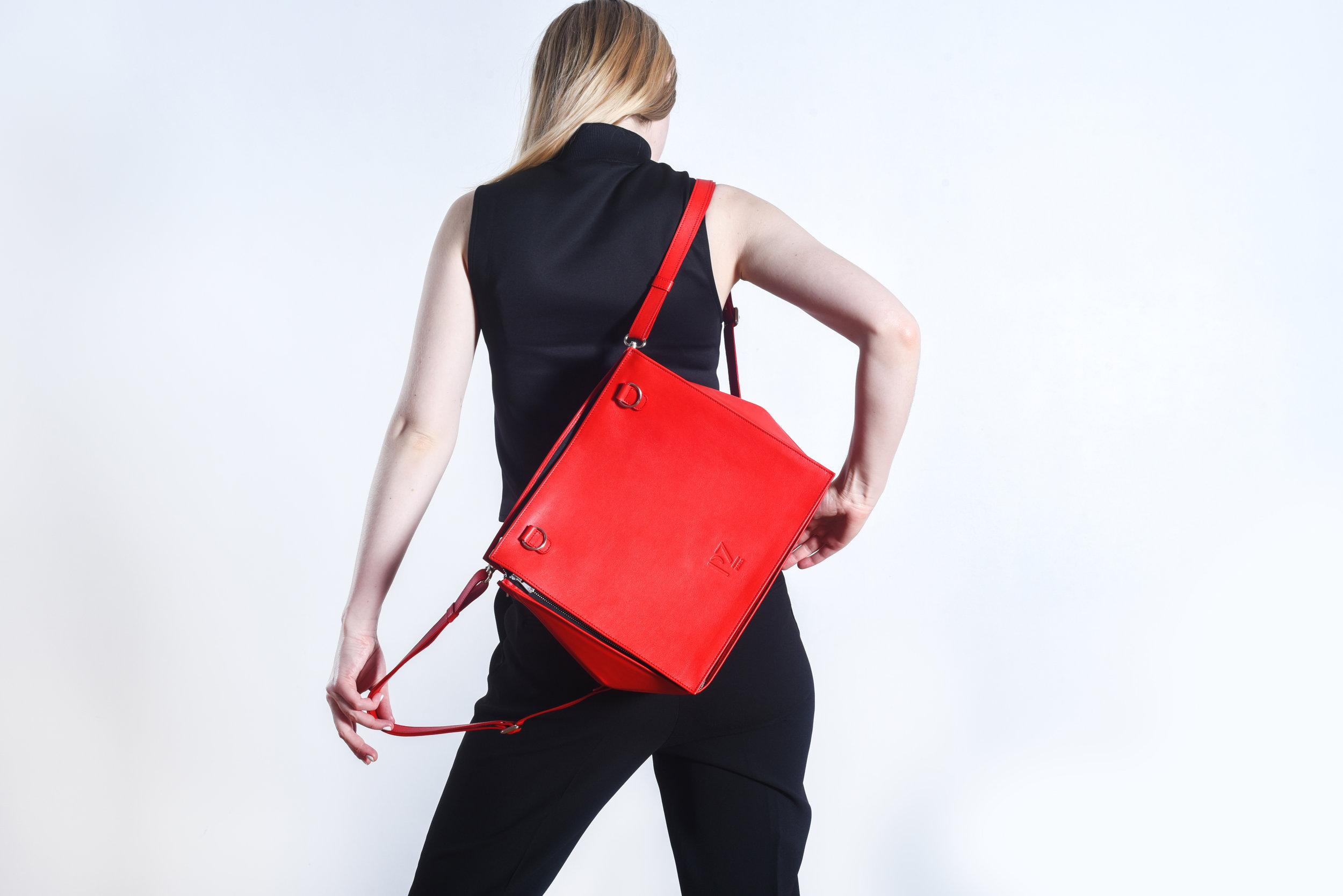 Red french backpack