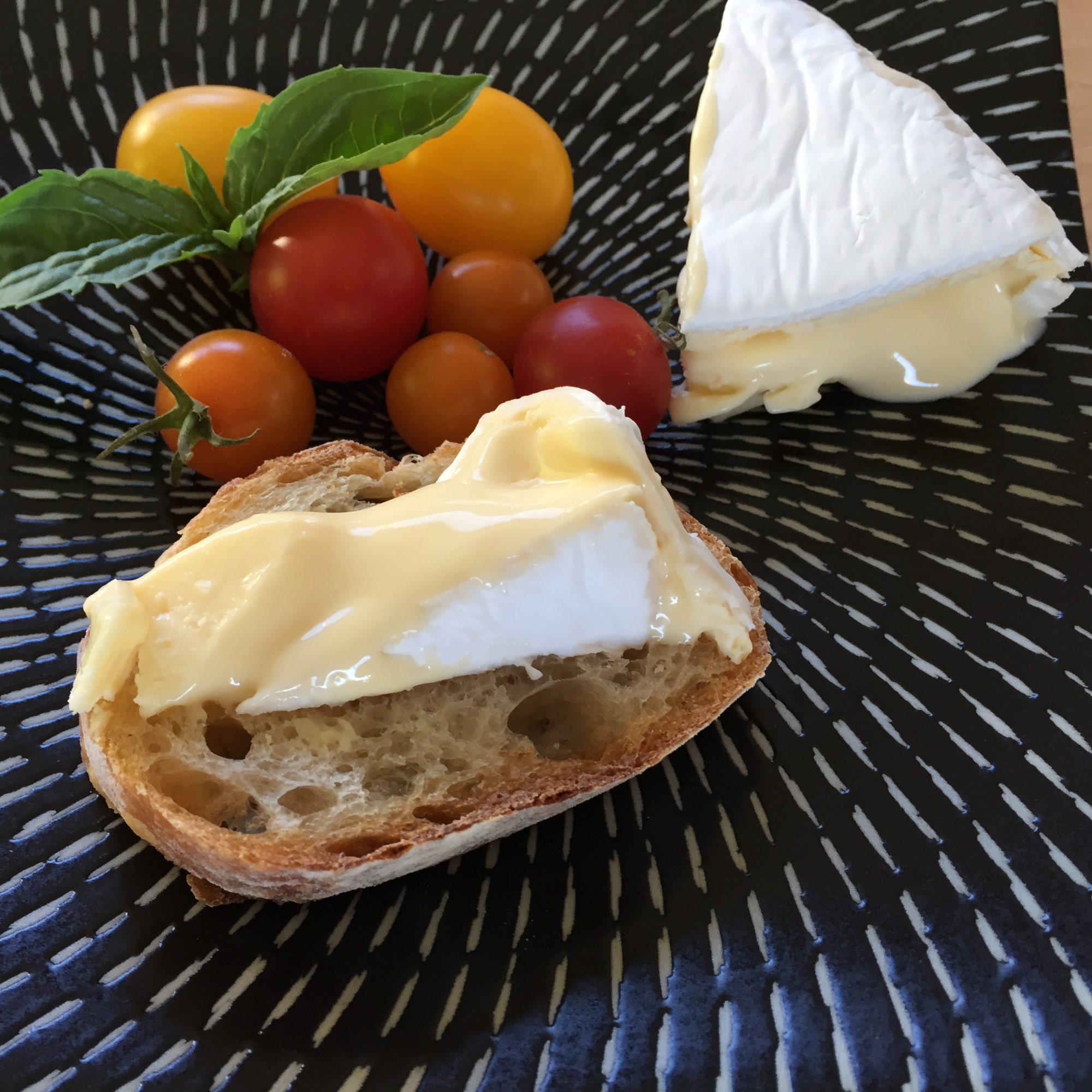Skagit Maid Camembert is available in 6.5 ounce wrapped rounds. Larger wheels can be special ordered.