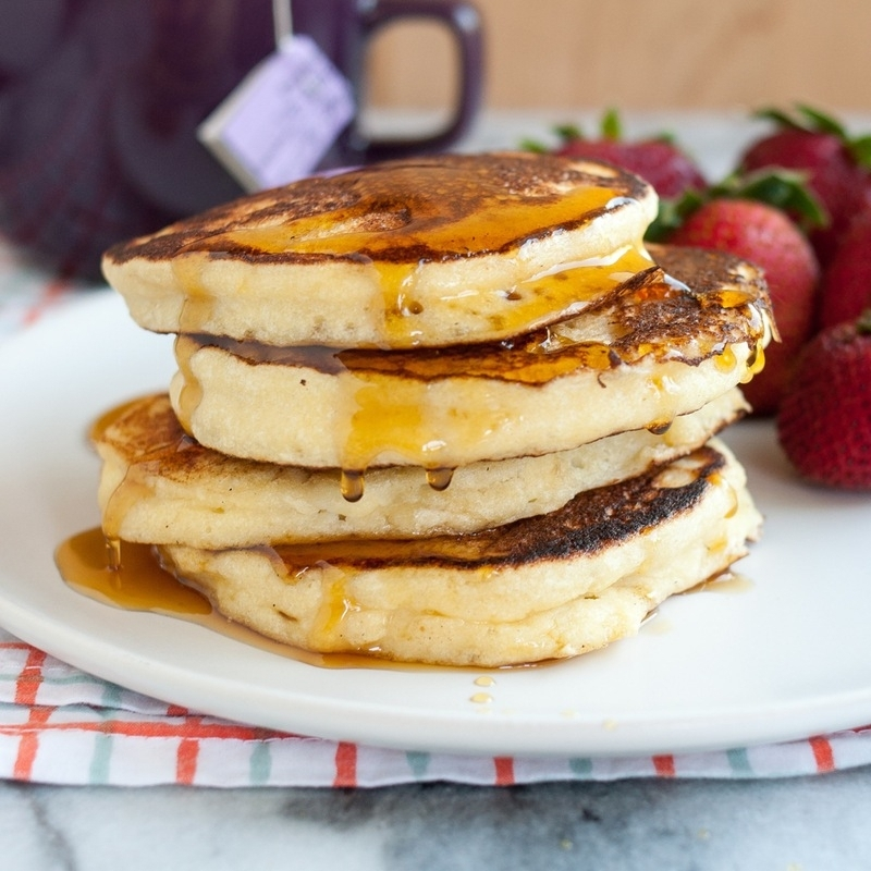 Fluffy Ricotta Pancakes found on Kitchn