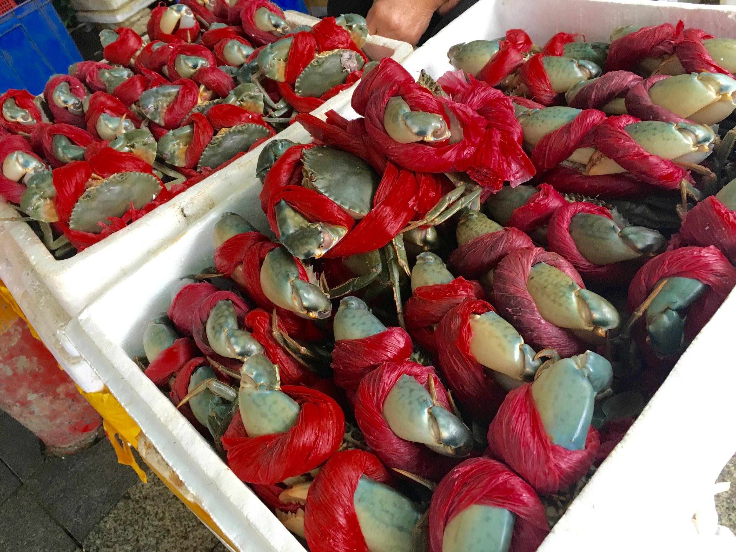 Crab claws, I presume.
