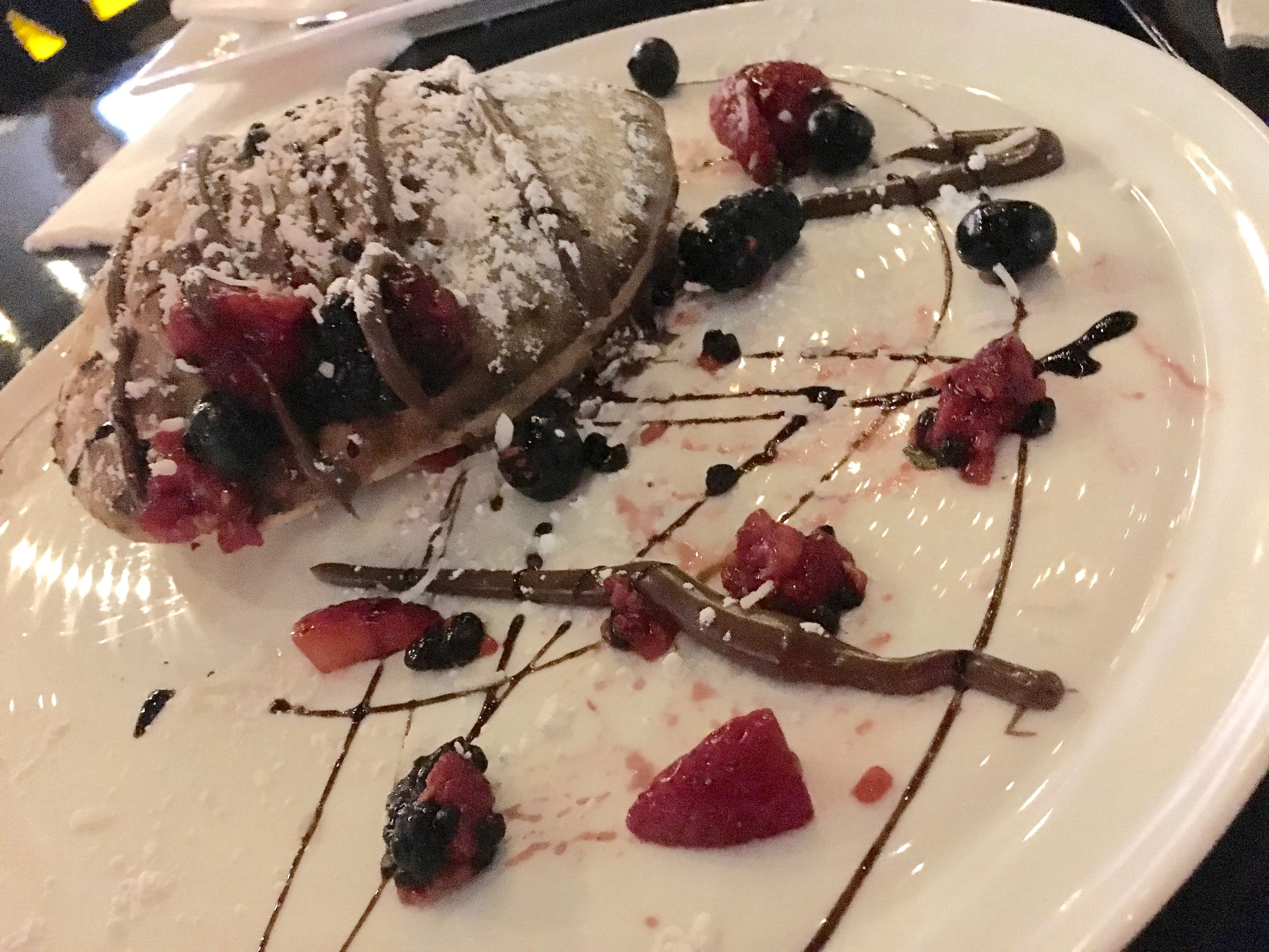 A Nutella calzone. This was good, yet the Drowning Gelato -- vanilla in a cup of robust espresso -- was amazing.