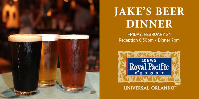 Sip Brews at Jake's Beer Dinner