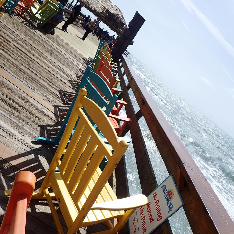 Rikki Tiki Tavern is at the very end of the Cocoa Beach Pier.
