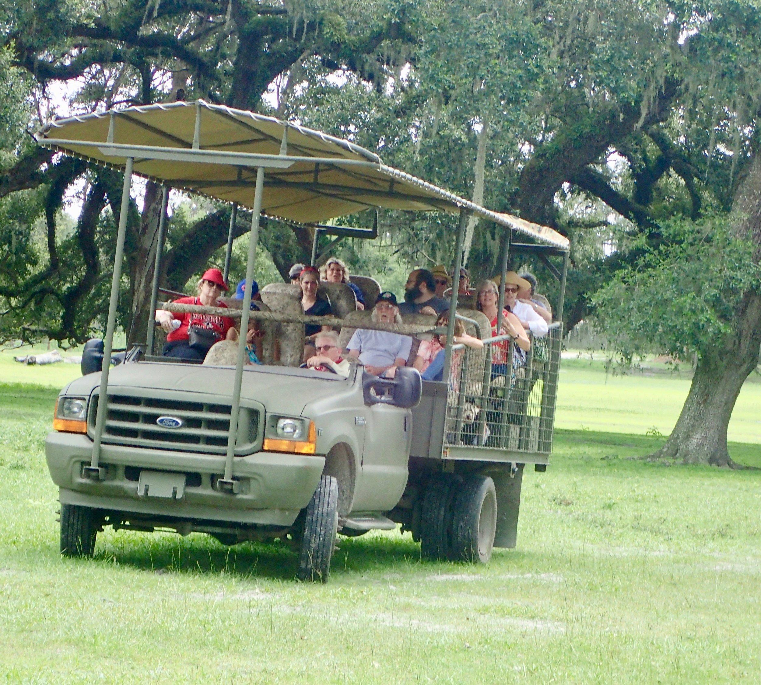 Giraffe Ranch truck safari