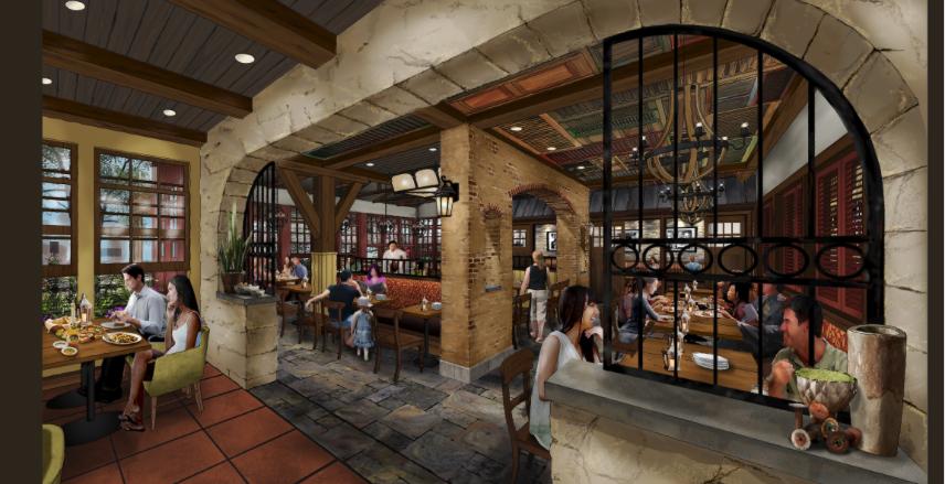 Levy's New Disney Springs Restaurant Will Be Called Terralina rendering