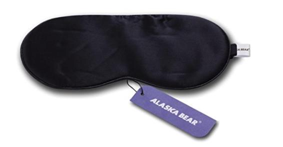 Five gifts for a practical woman ALASKA BEAR Natural silk sleep mask black