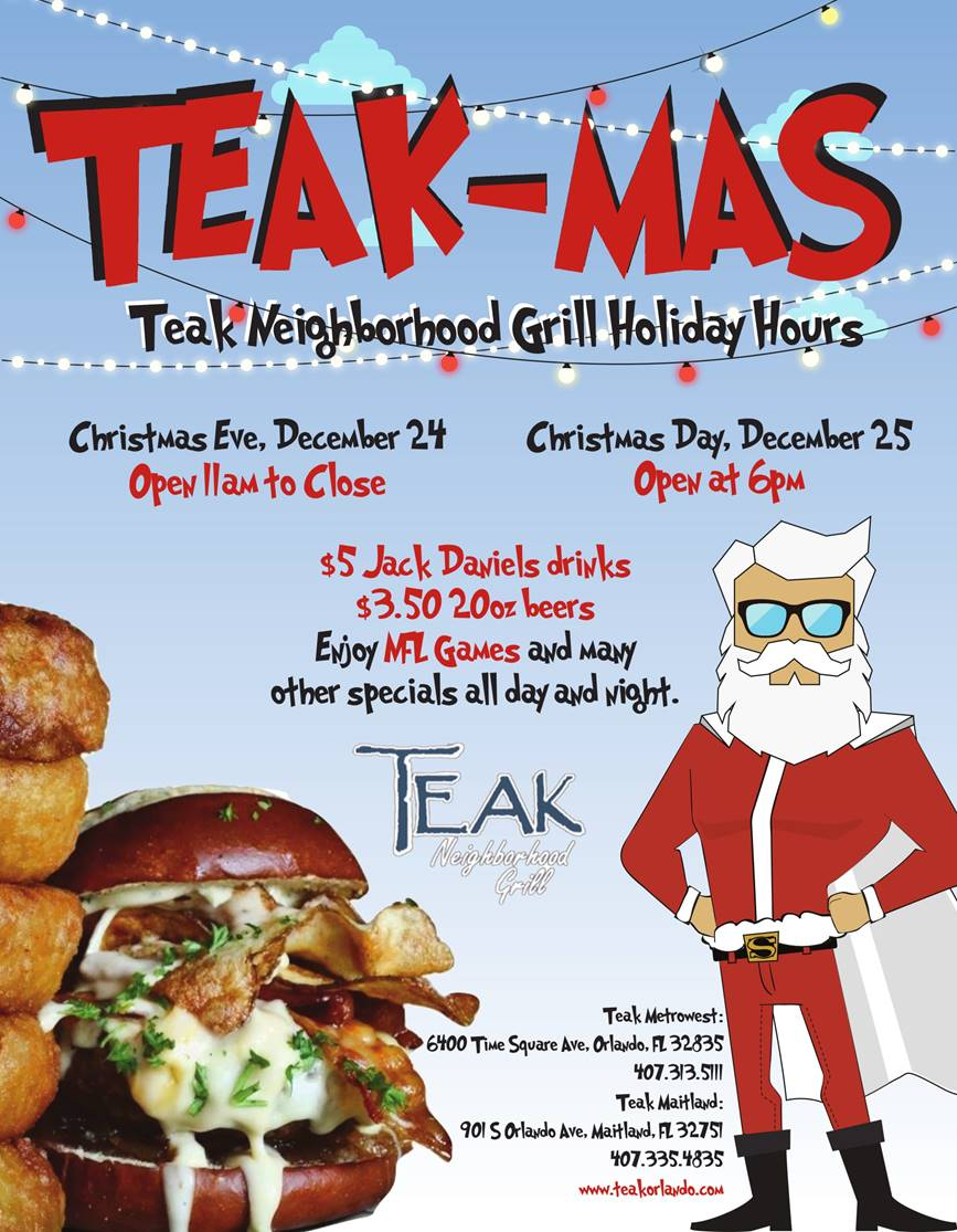 Where to Eat on Christmas in Orlando 2017 Teak Neighborhood Grill.jpg