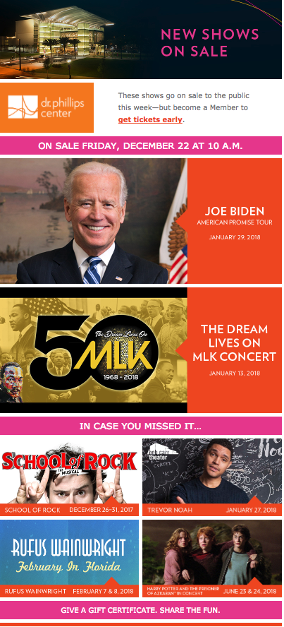 School of Rock, Joe Biden, Scheduled for Dr. Phillips Center.png