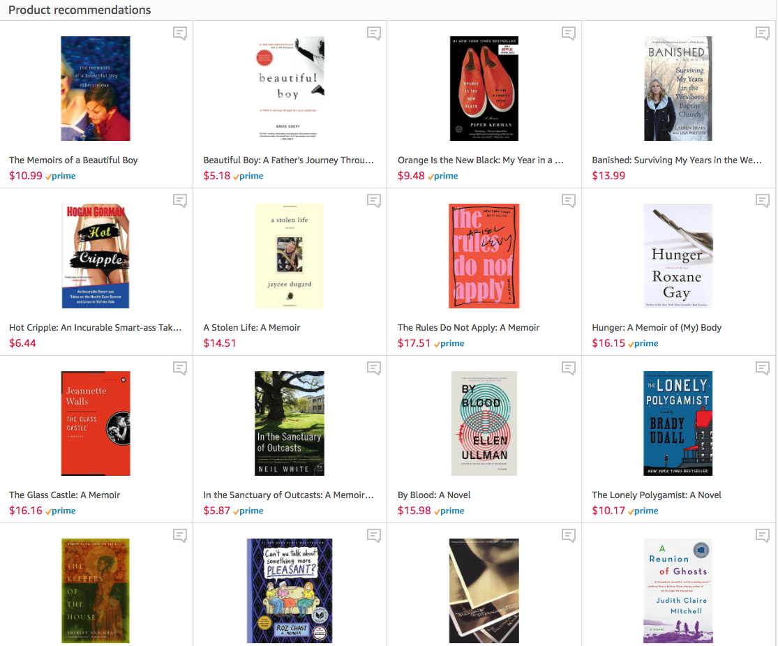 10 Excellent Memoirs that Make Great Gifts Rona Gindin Recommends Amazon Influencer page.png