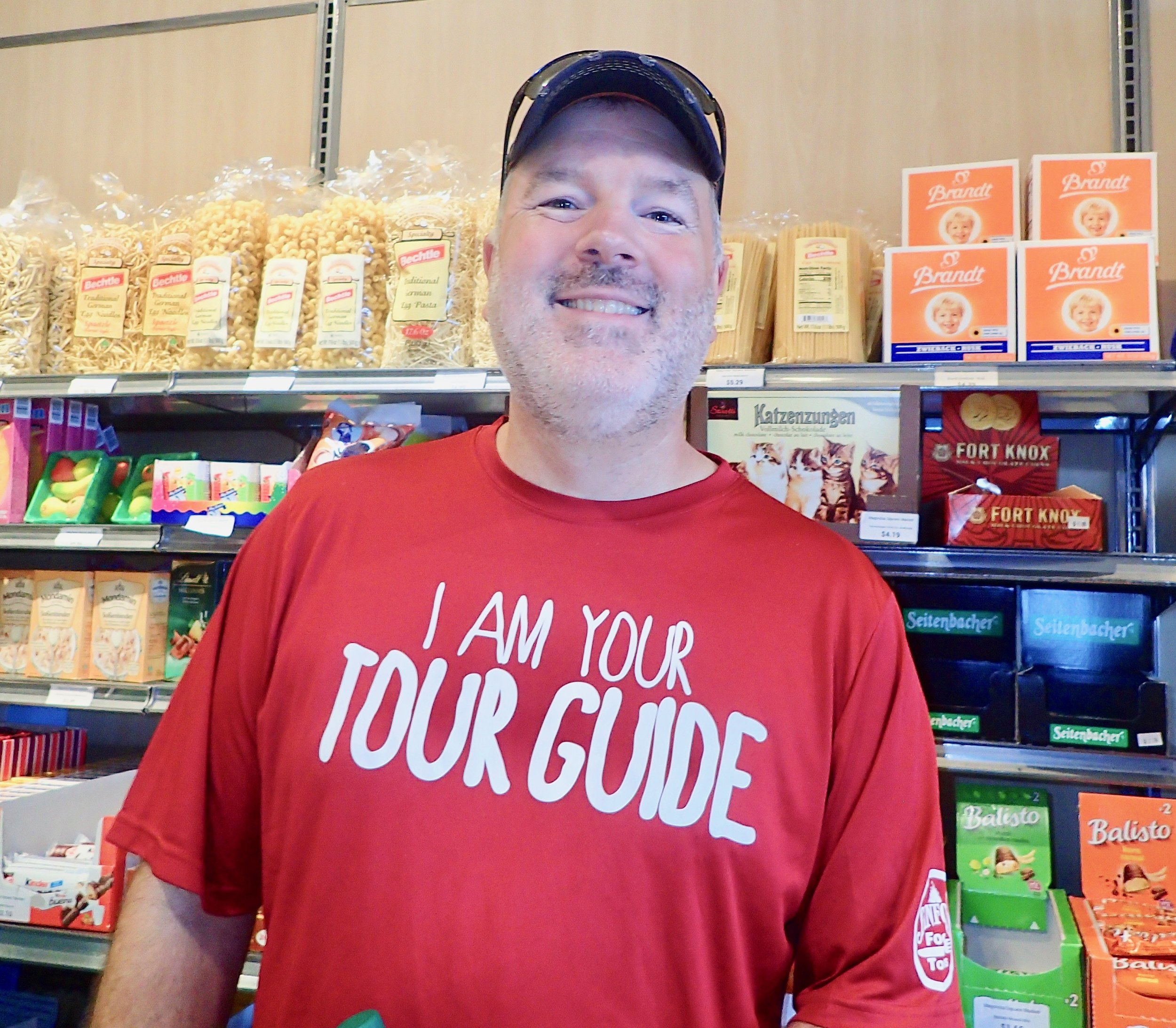 Sanford Food Tours co-owner and tour guide Rob Paul, inside Magnolia Square Market