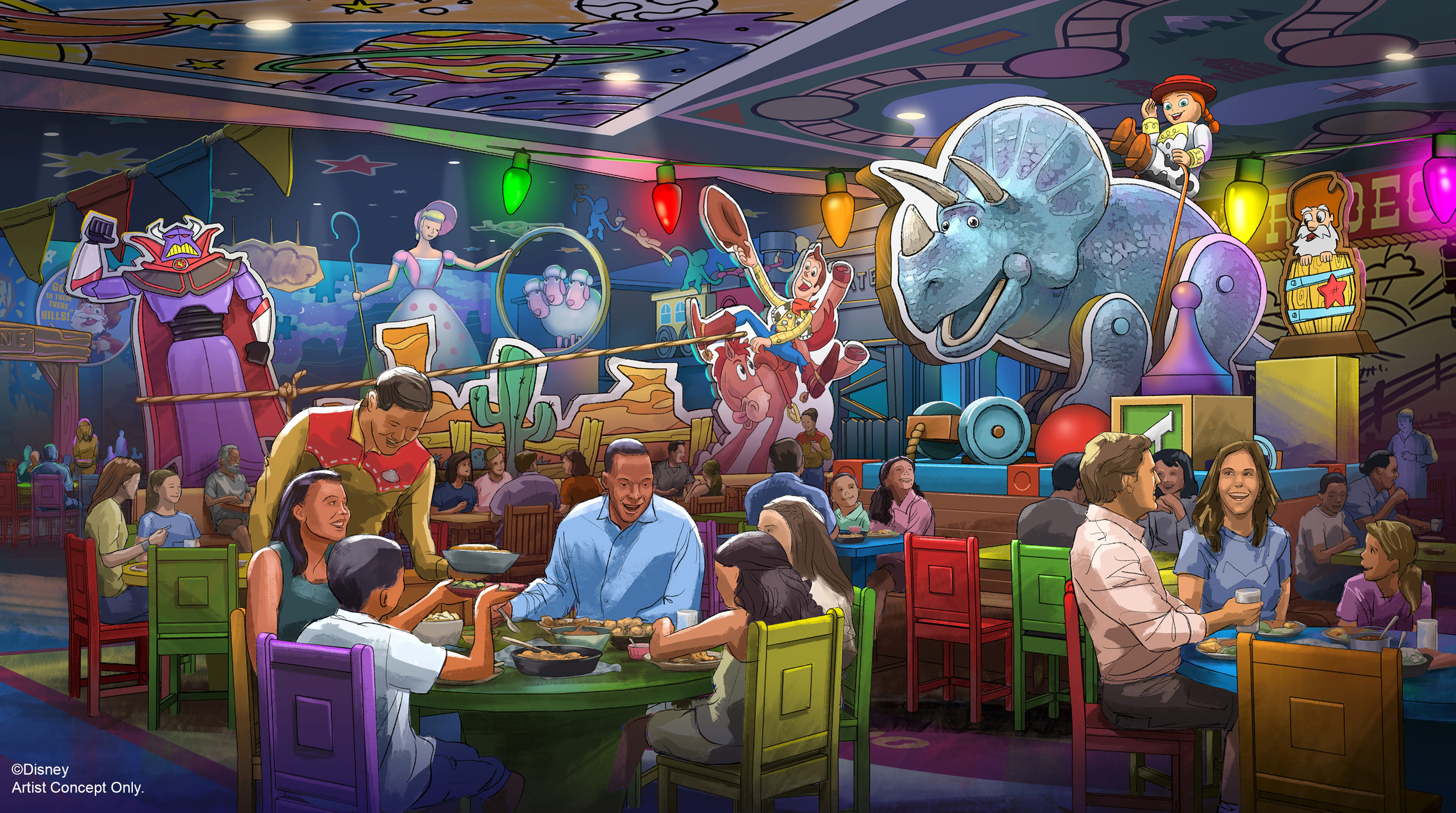 What the Toy Story Land table-service restaurant will look like