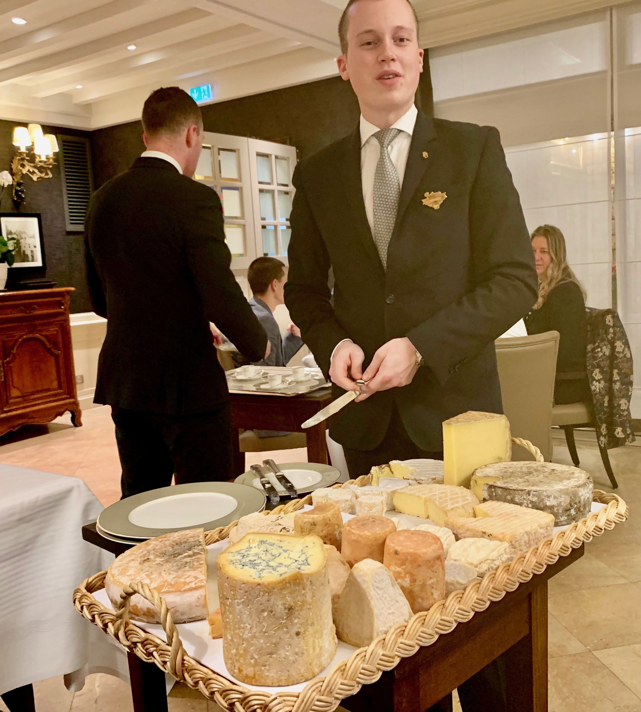 This is part of the cheese display. We were invited to be served pieces of as many as we wanted. Dessert was served the same way, but we have no photo for some reason.