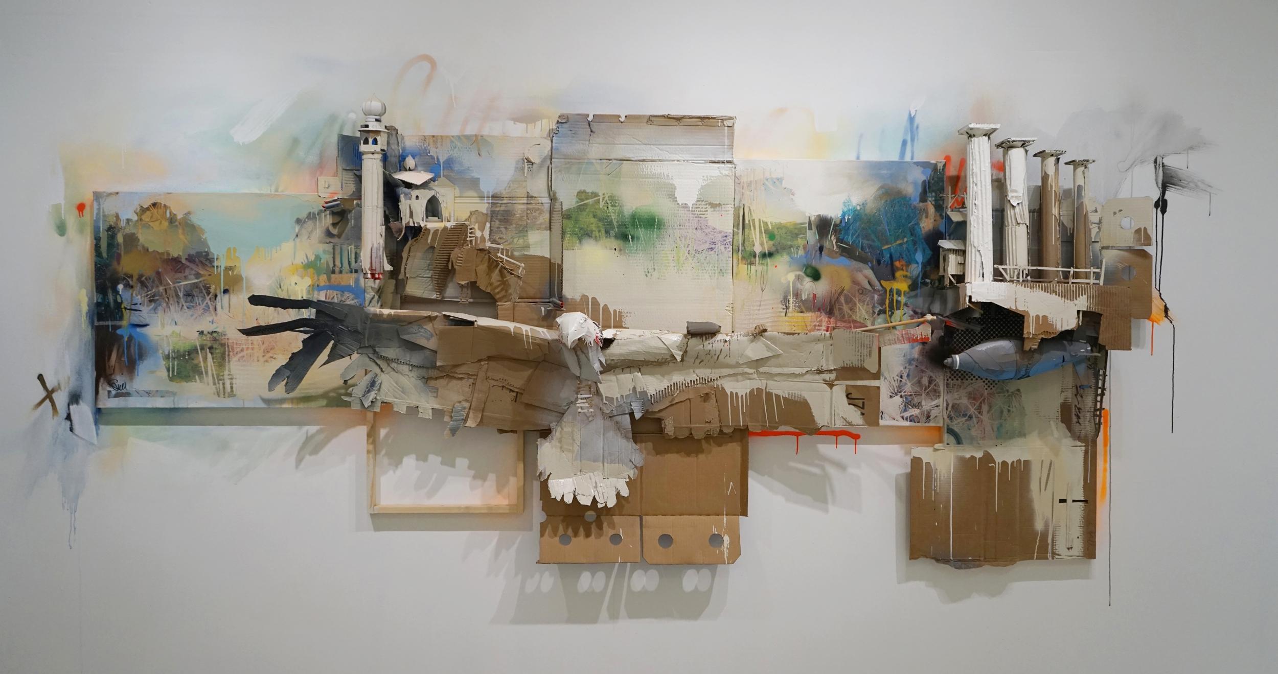"""Fight or Flight"" 52 x 120,2017"