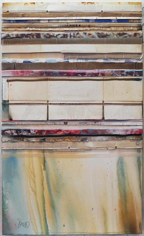 """Crossing the Old Bridge"", 60 x 36, 2018"