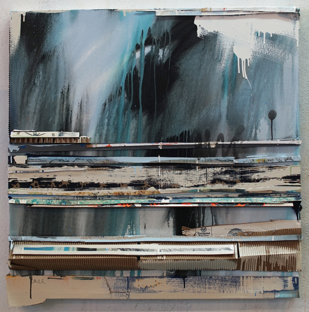 """""""Frozen Lake at Night"""", 37 x 37, 2018"""
