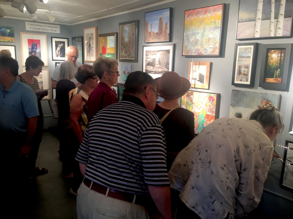 Good turnout at the opening, a nice crowd all night long
