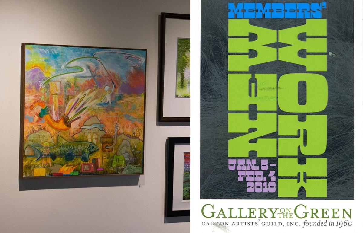 "Raheem is flyfishing , 137 Elmfield St., #54. 24""x24"", oil, wax, oil pastel, pencil on canvas"