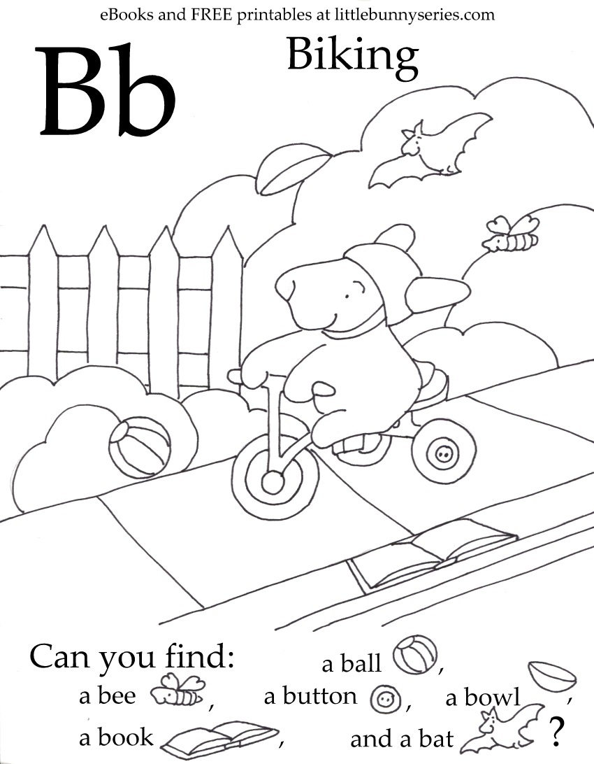 Letter B Seek and Find PDF