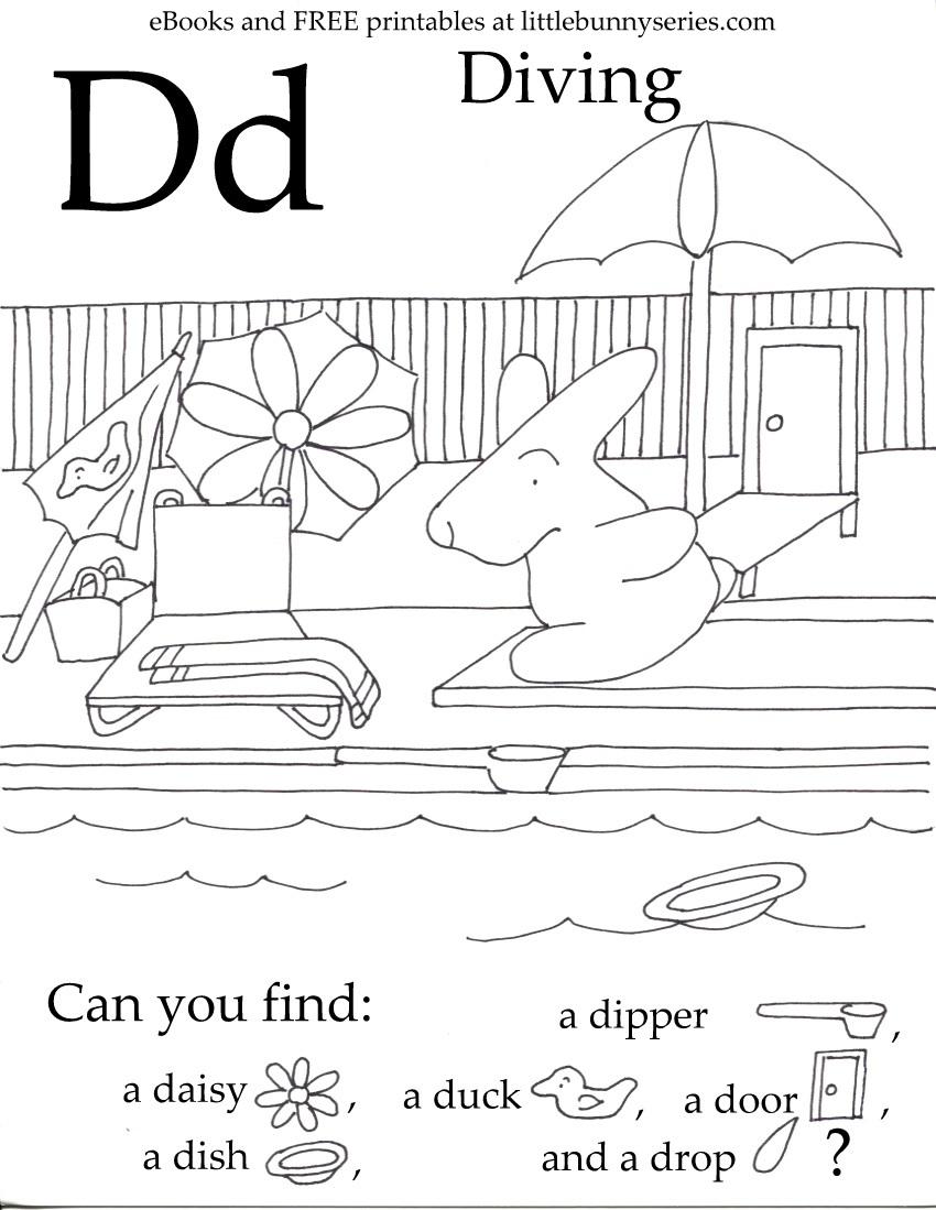 Letter D Seek and Find PDF