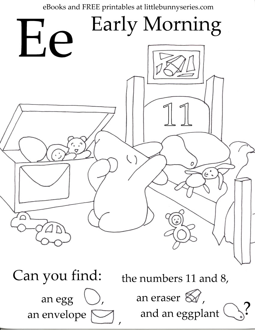 Letter E Seek and Find PDF