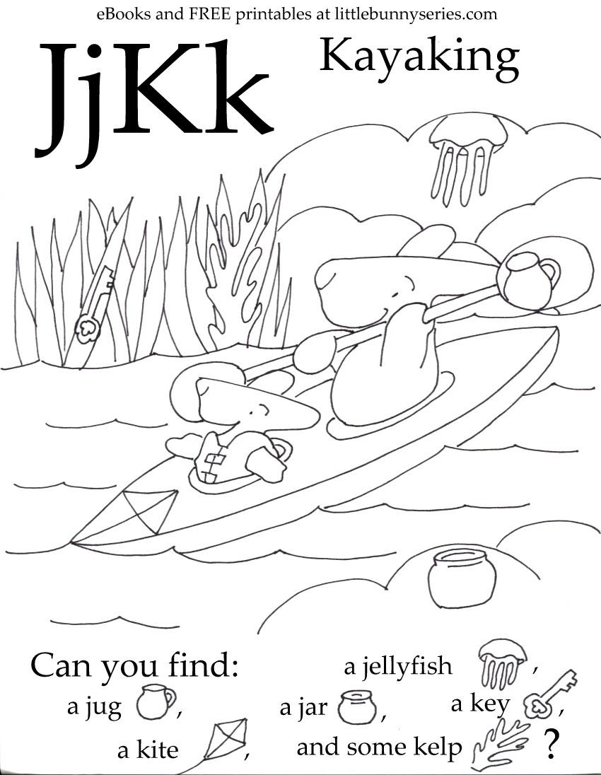 Letters J, K Seek and Find PDF
