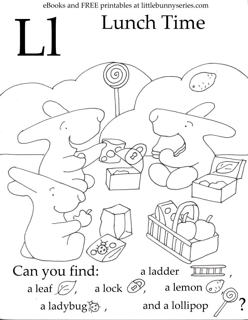 Letter L Seek and Find PDF