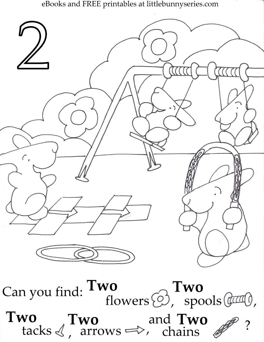 Number 2 Seek and Find PDF