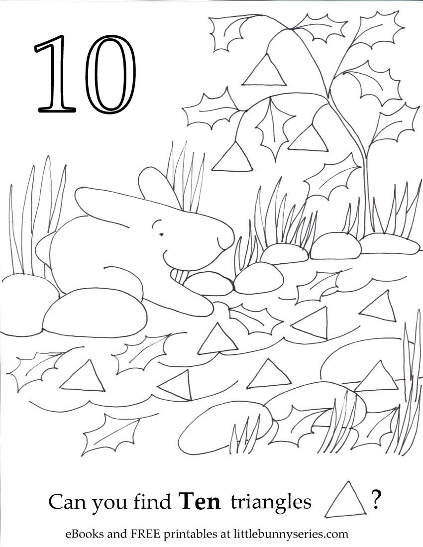 Number 10 Seek and Find PDF