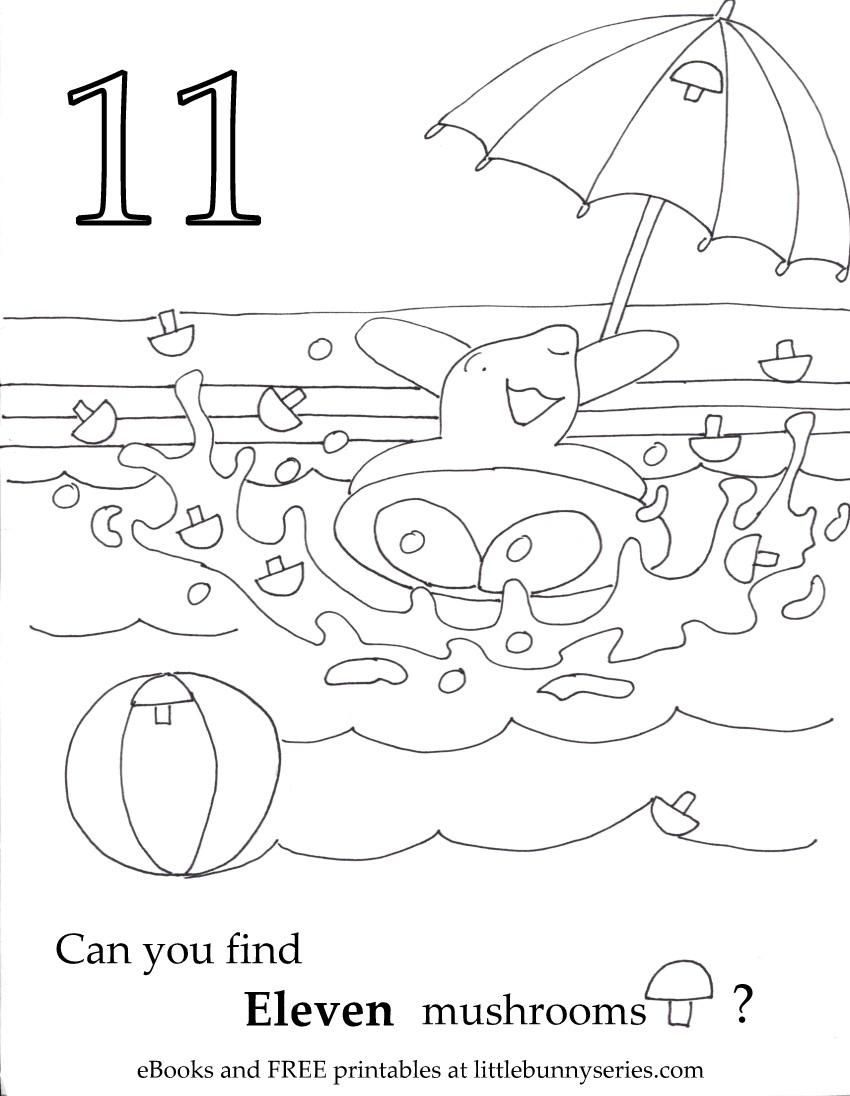 Number 11 Seek and Find PDF