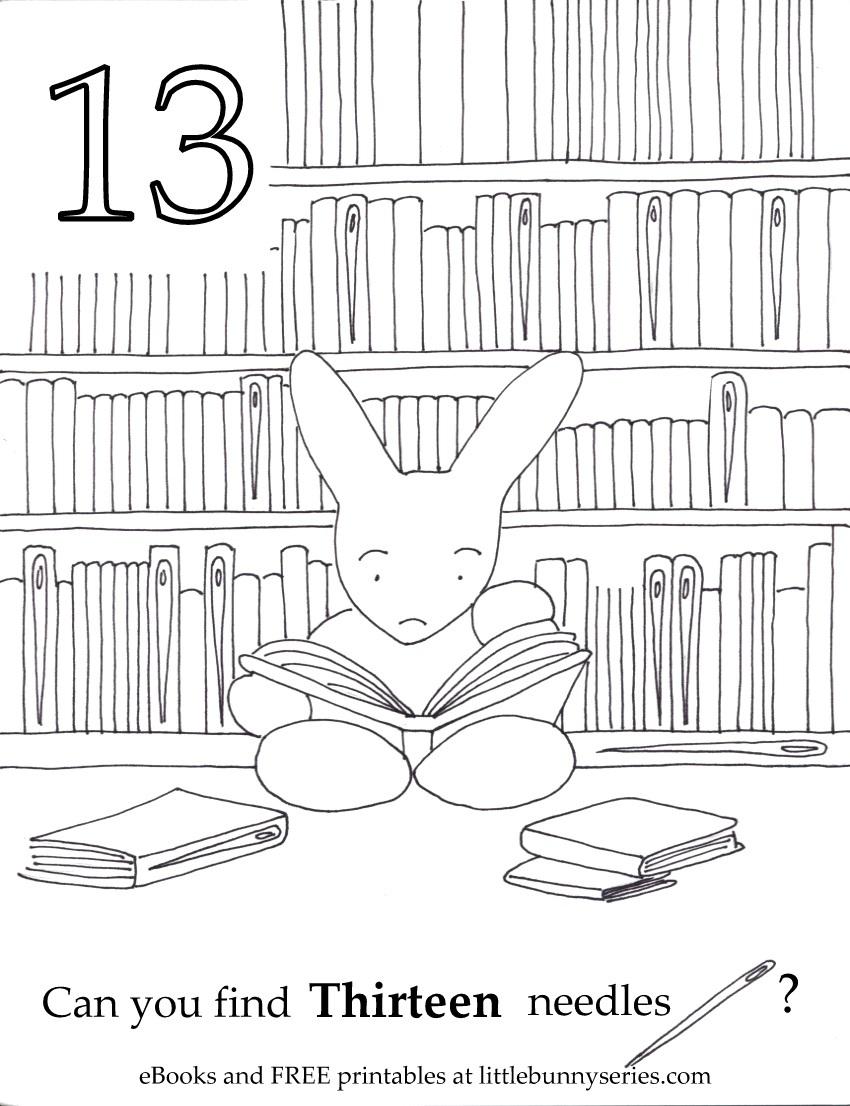 Number 13 Seek and Find PDF