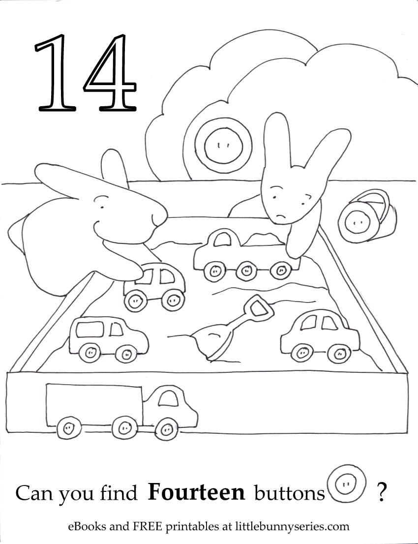 Number 14 Seek and Find PDF