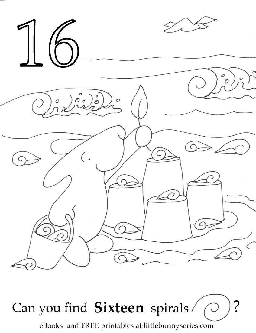 Number 16 Seek and Find PDF