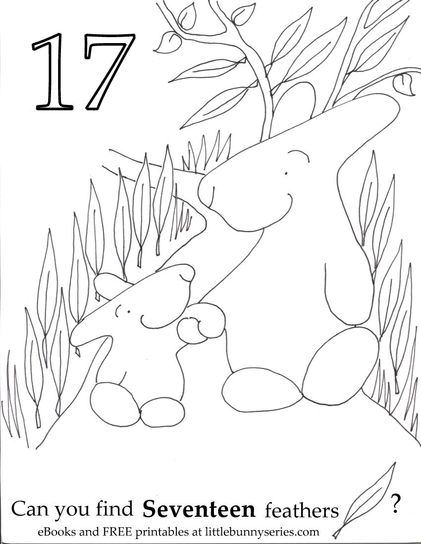 Number 17 Seek and Find PDF