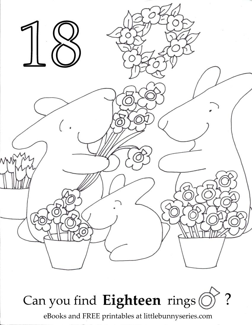 Number 18 Seek and Find PDF