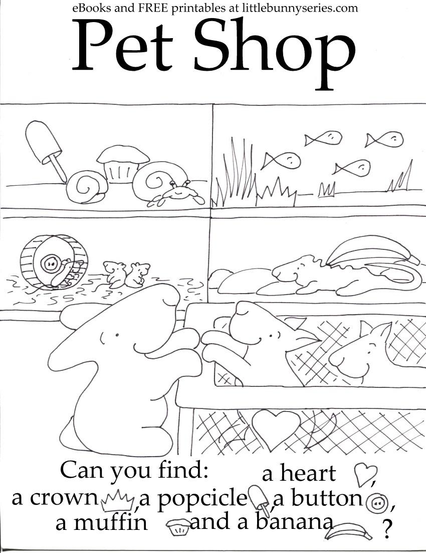 Pet Shop Seek and Find PDF