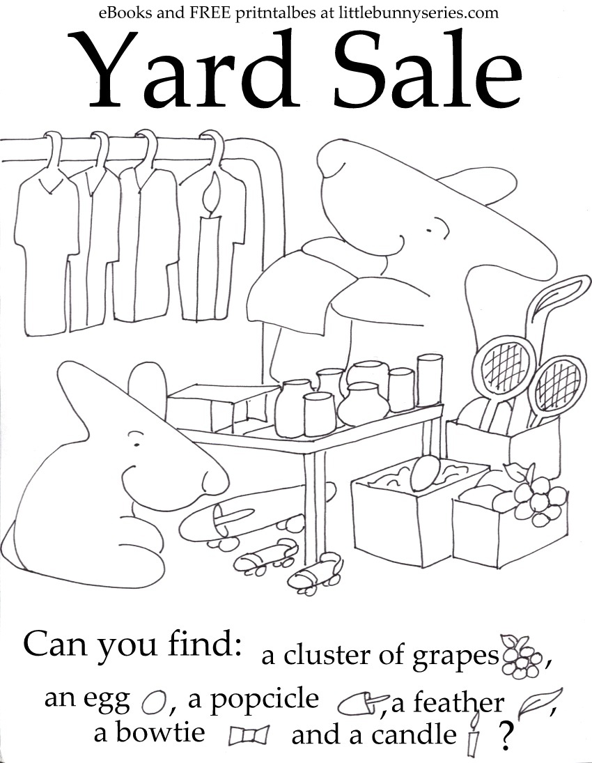 Yard Sale Seek and Find PDF
