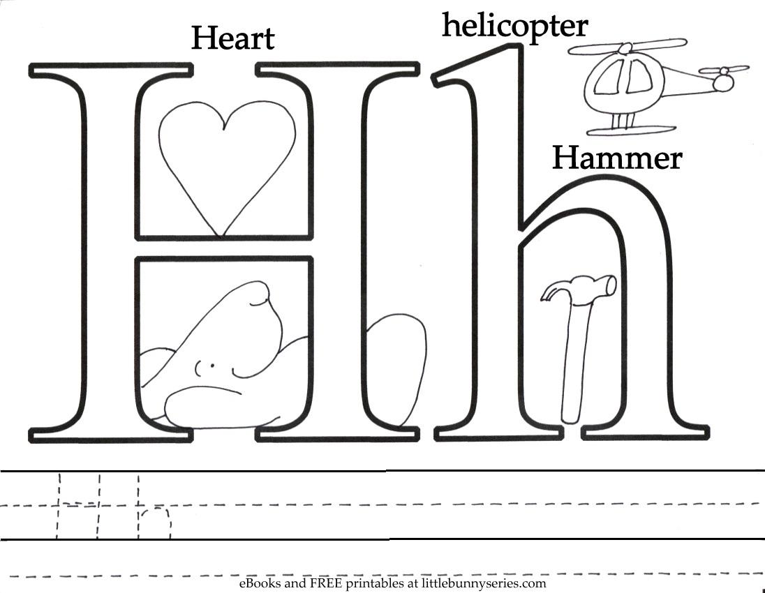 Letter H Coloring Page PDF