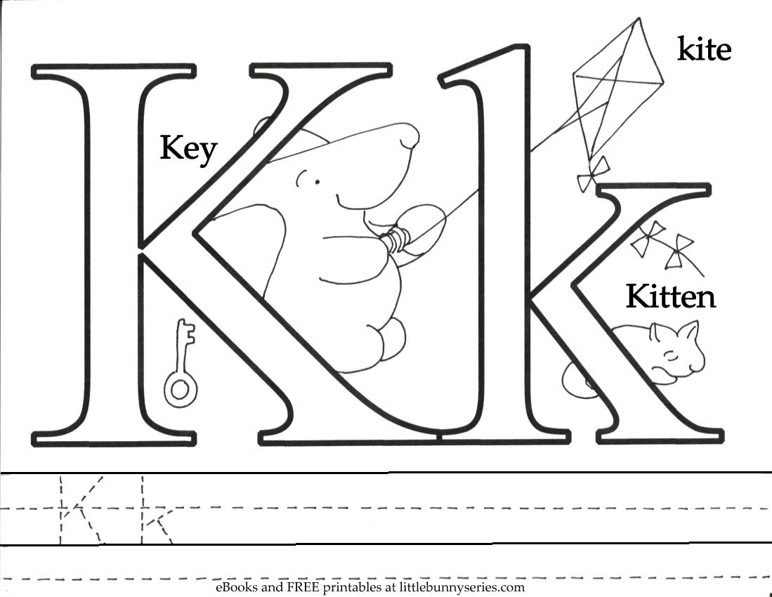 Letter K Coloring Page PDF