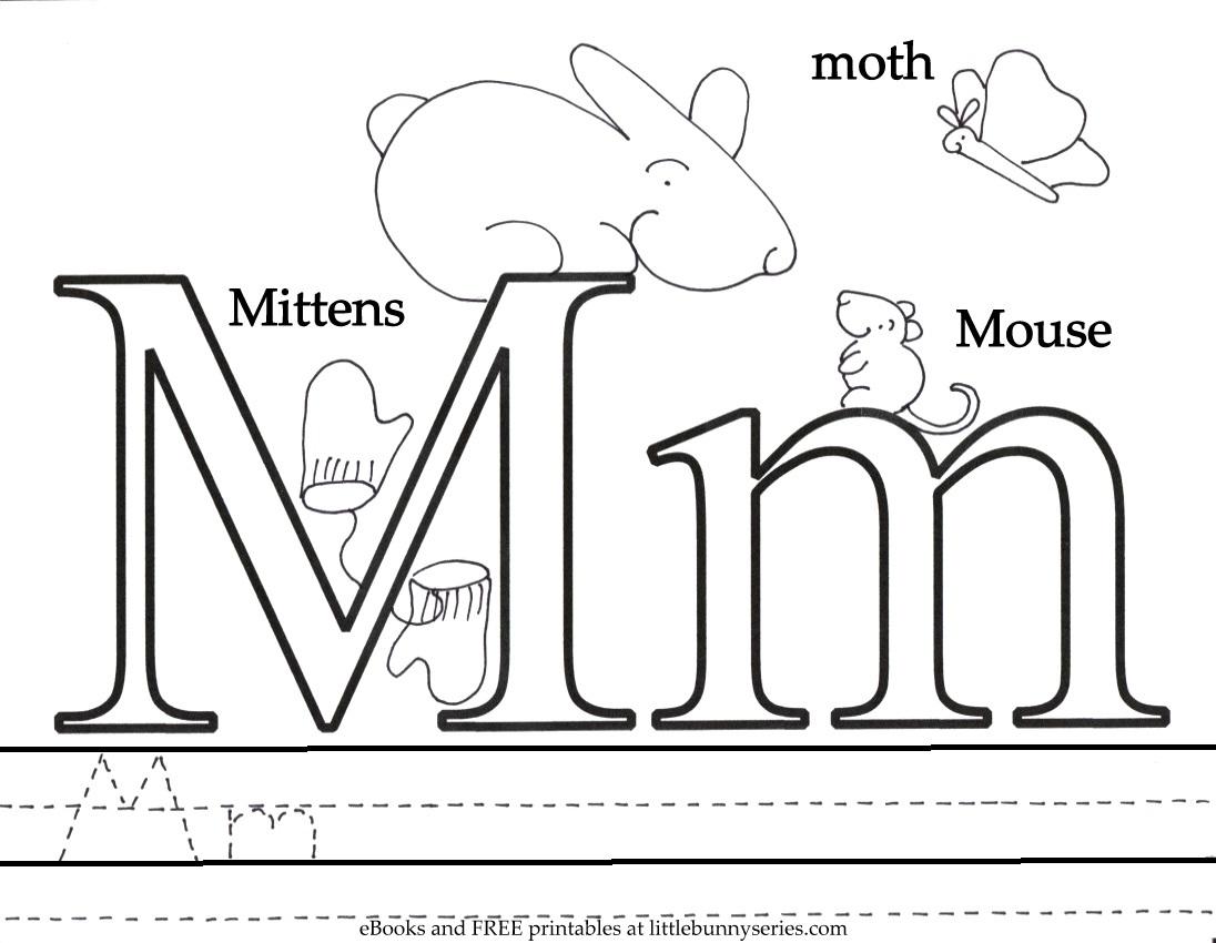 Letter M Coloring Page PDF