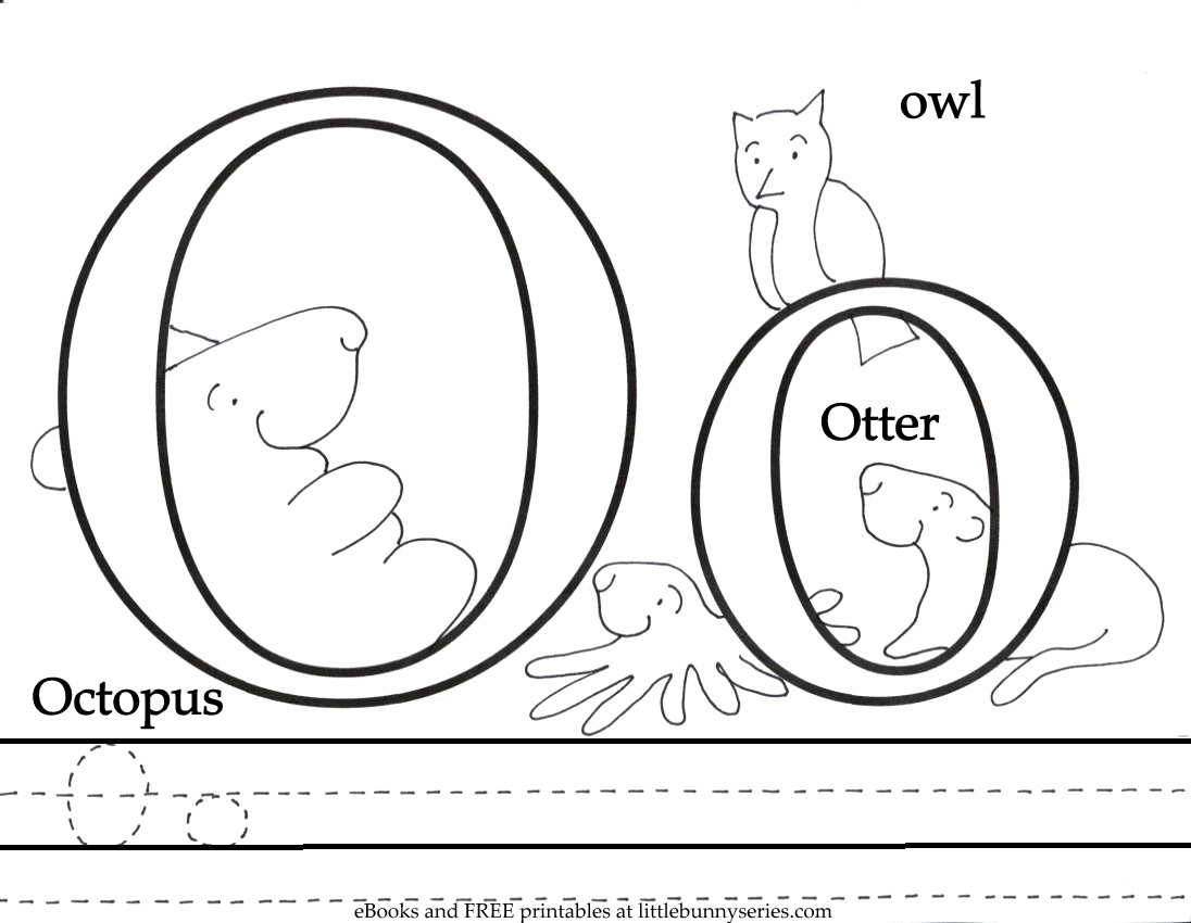 Letter o Coloring Page PDF