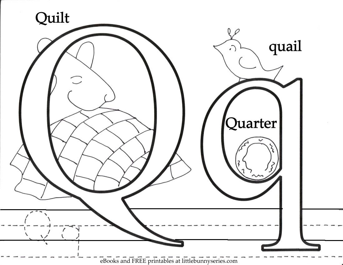 Letter Q Coloring Page PDF