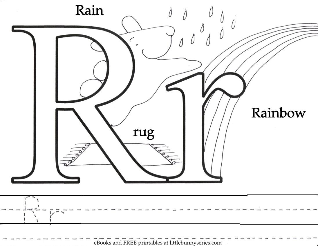 Letter R Coloring Page PDF