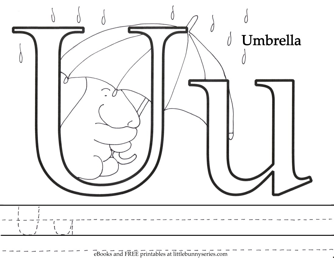 Letter U Coloring Page PDF