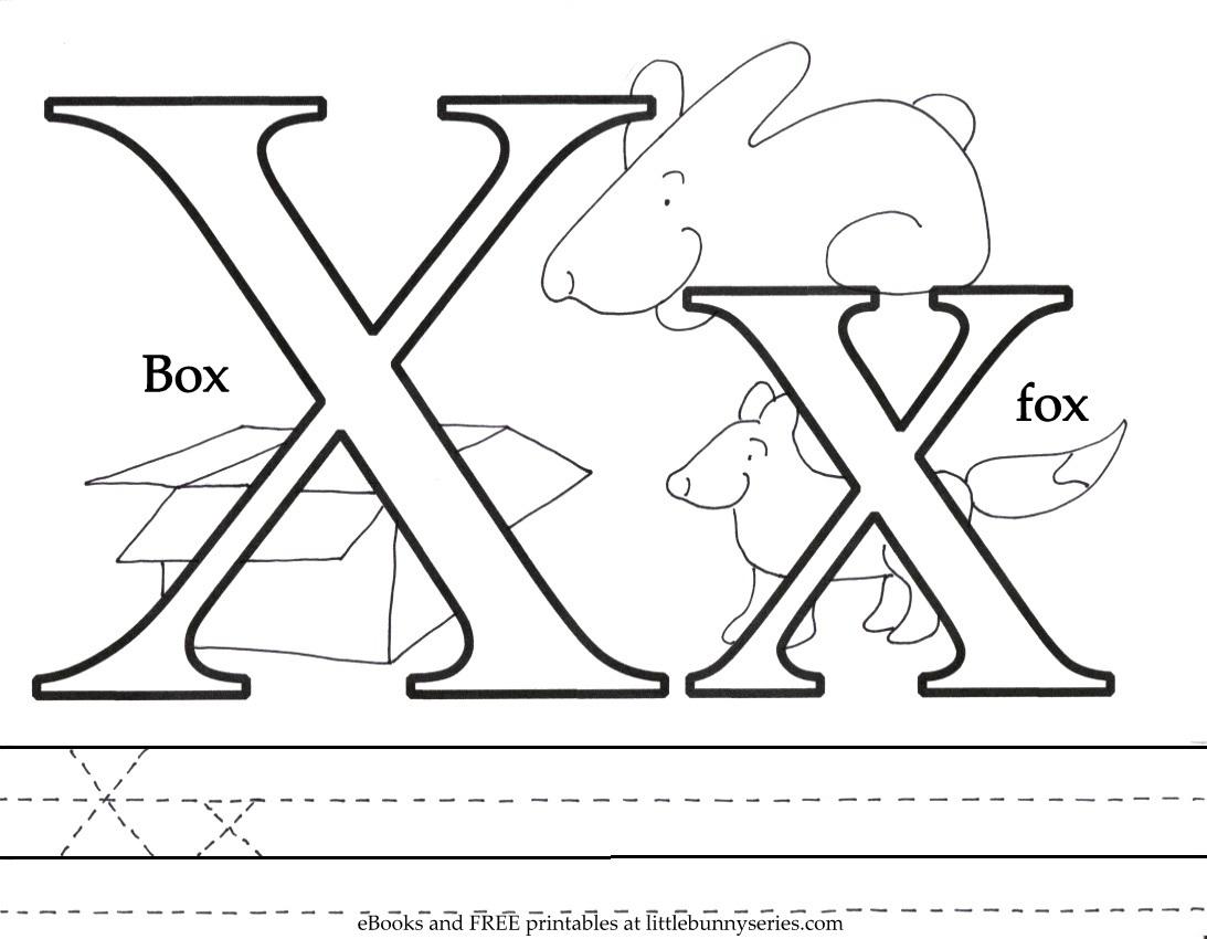 Letter X Coloring Page PDF
