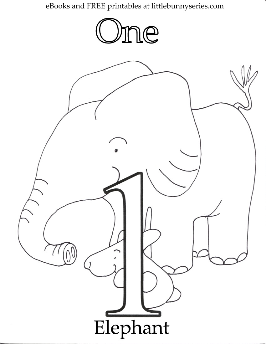 Number 1 Coloring Page PDF